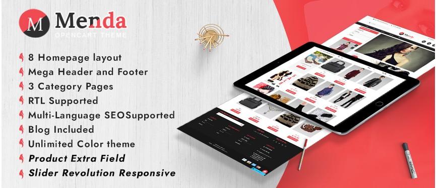 Menda E-commerce Html Template