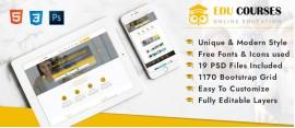 Edu-Courses Online Education PSD Template