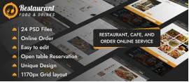 Restaurant Food & Drinks PSD Template