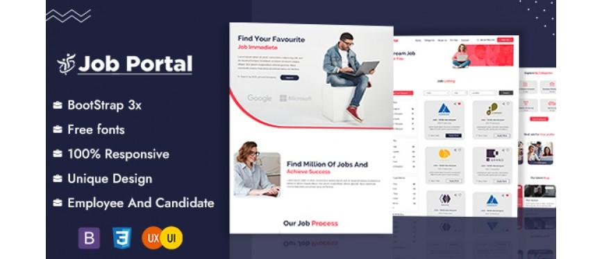 Job Portal HTML Template