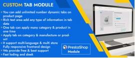 Prestashop Custom Tabs Pro Module