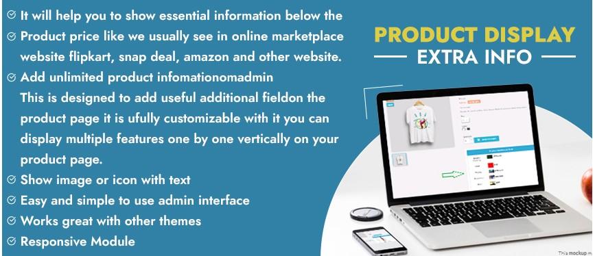 Prestashop Additional Product Info Fields Module