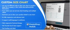 Prestashop Custom Size Chart Module